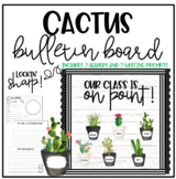 Cactus Bulletin Board - Back to School - Editable