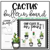 Cactus Bulletin Board - Back to School - Editable