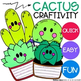 Cactus Bulletin Board Craftivity and Writing