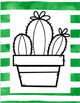 Cactus Bulletin Board Decor