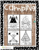 Camping theme reading signs for your reading corner or bul