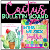 Cactus Bulletin Board Template