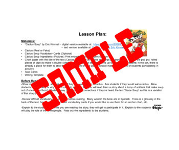 Cactus Bulletin Board and Lesson Plan