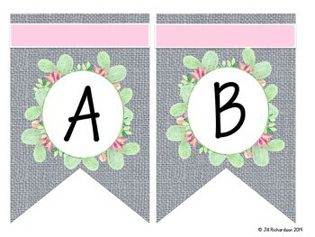 Cactus Classroom Decor - Bunting Make Your Own Saying! Cactus Classroom Decor