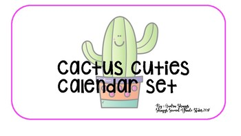 Cactus Calendar Number Cards & Months