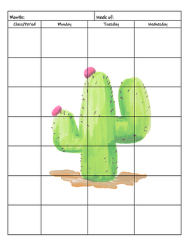 Cactus Calendar Planner Only