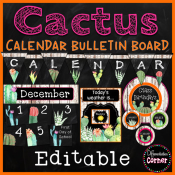 Cactus Calendar Set up