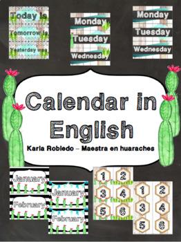 Cactus Calendar in English!