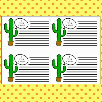 Cactus Cards- Tattle Cards, Anti-Bully Cards, Student Encouragement, Recognition