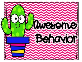 Cactus Chevron Behavior Clip Chart