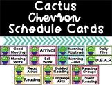 Cactus Chevron Schedule Cards