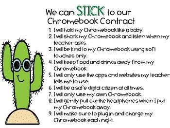 Fan-Cactus Chromebook Contract