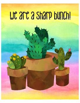 Cactus Class Poster Set