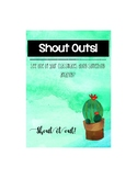 Cactus Class Shout Out 5x7 Poster