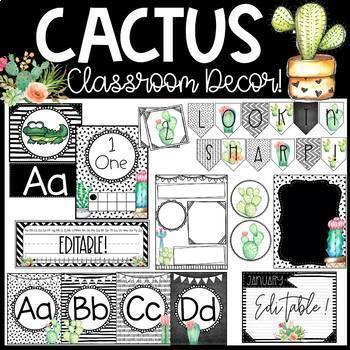 Cactus Classroom Decor!