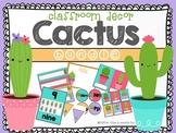 Cactus: Classroom Decor Editable Bundle