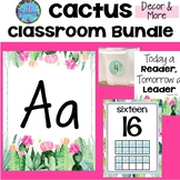Cactus Classroom Decor Bundle  (13 Cactus Theme Resources)