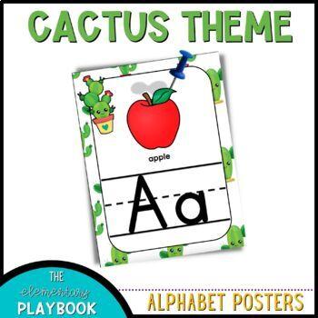 Cactus Classroom Decor - Alphabet Posters