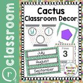 Classroom Decor Bundle Editable Cactus Succulents Back to School