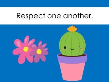 Cactus Theme Classroom Rules Posters