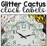 Cactus Classroom Decor Clock Labels