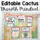 Cactus Classroom Decor Growth Mindset Posters
