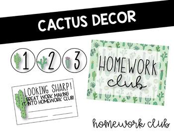 Cactus Classroom Decor: Homework Club