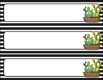 Cactus Classroom Decor Kit *EDITABLE*