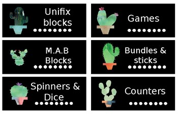 Cactus Classroom Decor LABELS 2 - Cactus and succulent theme