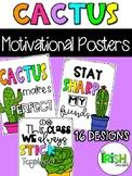 Cactus Classroom Decor Motivational Posters