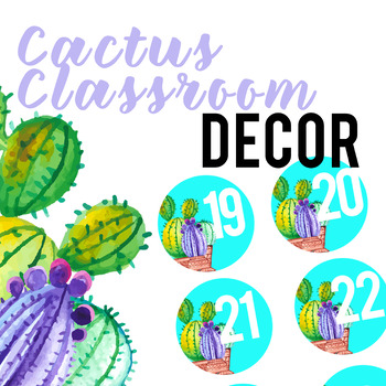 Cactus Classroom Decor Numbers