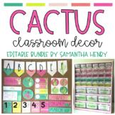 Cactus Classroom Theme Decor Set