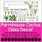 Cactus Classroom Decor Set {Farmhouse Bundle}