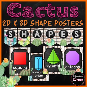 Cactus Classroom Decor Shape Posters