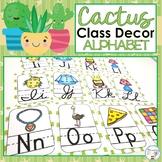 Cactus Classroom Decor Succulent Classroom Decor Alphabet Posters