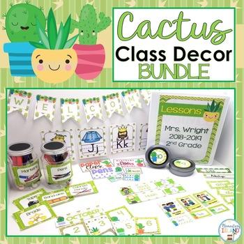 Cactus Classroom Decor Succulent Classroom Theme Bundle By