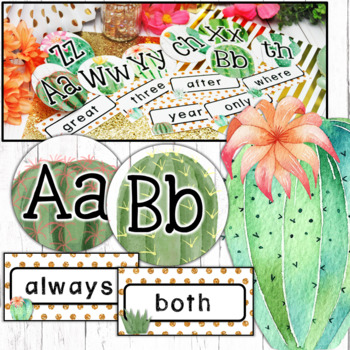 Cactus Classroom Decor Word Wall