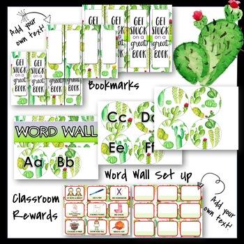 Cactus Classroom Decor and More!!  Editable!