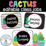 Cactus Classroom Jobs- Classroom Decor