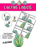 Cactus Labels: Editable for the classroom