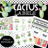 Cactus Classroom Labels - Fully Editable