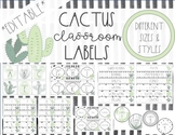 Cactus Classroom Labels (for Target Label Pockets!)