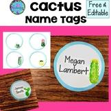 Cactus Name Tags - FREE & EDITABLE