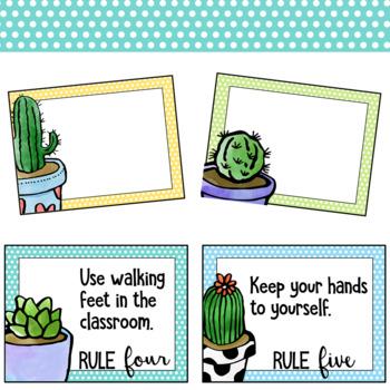 Cactus Classroom Rules