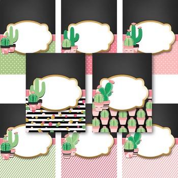 Cactus Classroom Theme - Binder Covers