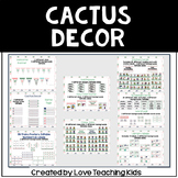 Cactus Classroom Theme- Editable
