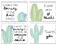 Cactus Classroom Wish List