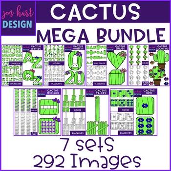 Cactus Clip Art - Cacti Mega BUNDLE {jen hart Clip Art}