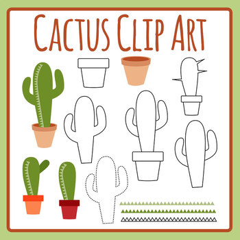 Cactus Clip Art Set for Commercial Use