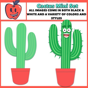Cactus Clip Art and Border Mini Set